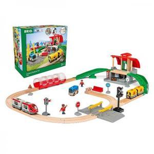 乗り物おもちゃ 木のおもちゃ 木製 汽車 レール BRIO セントラルステーションセット 33989