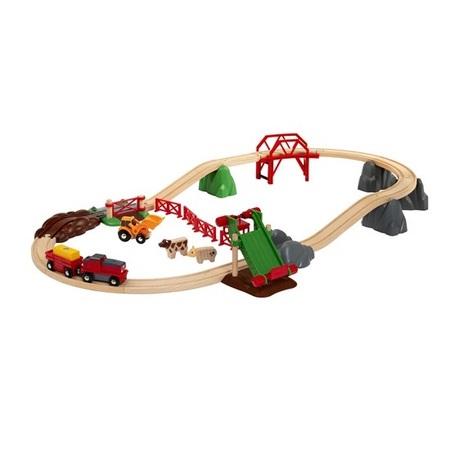 木のおもちゃ 木製レールセット BRIO ブリオ アニマルファームセット 33984