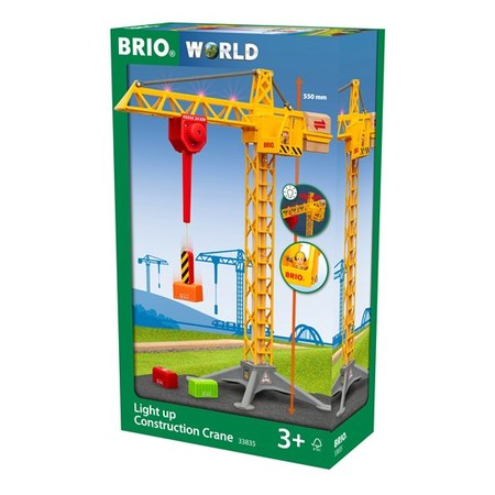 木のおもちゃ 木製レール BRIO ブリオ ライト付き大型クレーン 33835