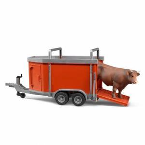 はたらく車 農業 畜産 BRUDER 牛運トレーラー&牛セット 02029