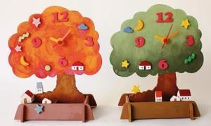 木工 工作キット アイスタジオ 木の風景時計 A94