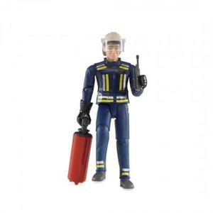 車のおもちゃ はたらく車 フィギュア BRUDER ブルーダー 消防士フィギュア 60100