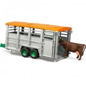 はたらく車 牧畜 農業 BRUDER 畜産業務用トレーラー(フィギュア付き) 02227