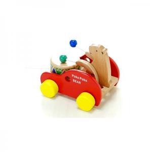 木のおもちゃ 知育玩具 プルトイ だいわ ポコポコくまさん