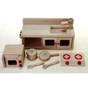 木のおもちゃ ままごと キッチン 木製 ミニキッチンセット 97963