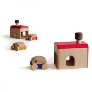 木のおもちゃ 日本製 マストロジェッペットgarage(ガレージ)