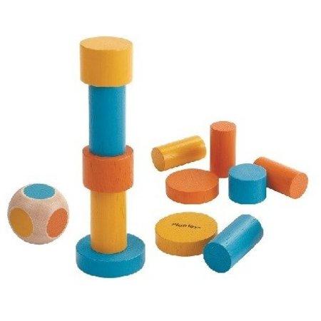 木のおもちゃ ゲーム インテリア PLANTOYS プラントイ スタッキングゲーム(缶入り)4133