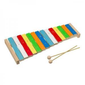 木のおもちゃ 日本製 平和工業 木琴 森のシロホン 14音 W-65