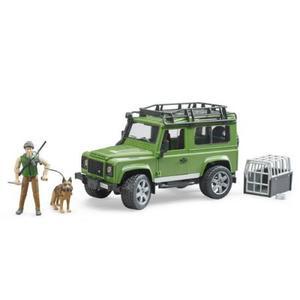 はたらく車 BRUDER Land Rover Def.ワゴン&フォレスター(犬付き) 02587