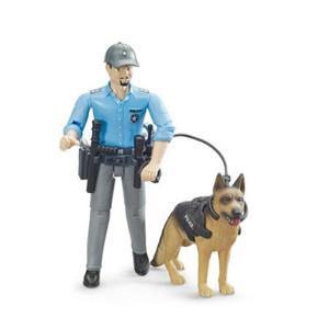はたらく車 フィギュア BRUDER ブルーダー 白人警官と警察犬 62150