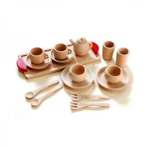 木のおもちゃ ままごと キッチン 木製 だいわ ミニ食器セット 97641