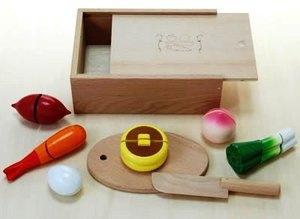 木のおもちゃ ままごと だいわ 包丁屋さんDセット 97960