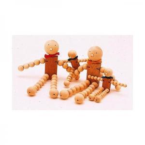 木のおもちゃ 北海道 KEM 木の人形 タマコロファミリー(L)