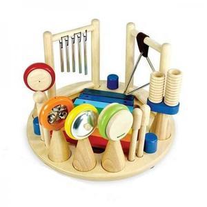 木のおもちゃ 知育玩具 アイムトイ メロディーゴーラウンド IM-30131