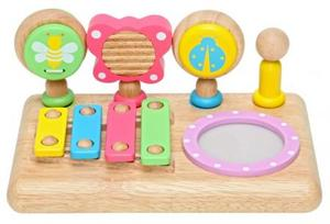 木のおもちゃ 音楽 知育玩具 エデュテ ファースト ミュージック セット LA-010